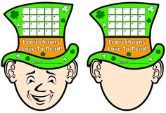 Have your students record the number of times they read in March using these colorful green leprechaun reading sticker charts.  You can use the template on the left, or give your students the template on the right, where they draw their own faces.