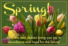 Spring! May this new season bring you joy in abundance and hope for the future!