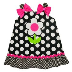 Youngland Baby Girls Polka Dot Flower Sundress 3M-9M