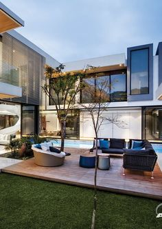 Mansion With Perfect Interiors by SAOTA | #modern #architecture #design #house #home #residence #amazing #beautiful #new #saota #terrace #furniture #outdoors