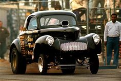Willys Coupe drag race.
