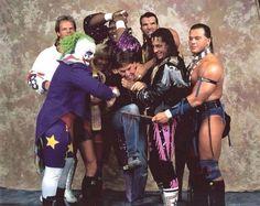 Lex Luger, Doink, Mable, Razor Ramon, Brett Hart & Tatanka