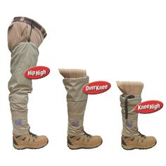 Great for when you just don't want to bring your waders!   Sometimes you need a hip wader, sometimes you need a knee high wading sock and at other times you need somewhere in between. Now you can have all in one with th