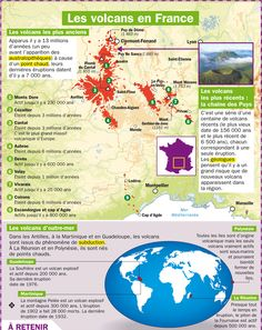 Fiche exposés : Les volcans en France Ap French, Learn French, French Classroom, Teaching French, French Language, Data Visualization, Creative Writing, How To Memorize Things, History
