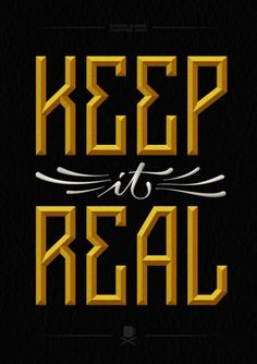 keep it real, logo, type, typography