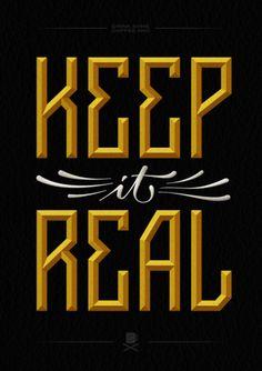 keep it real, logo, type, typography