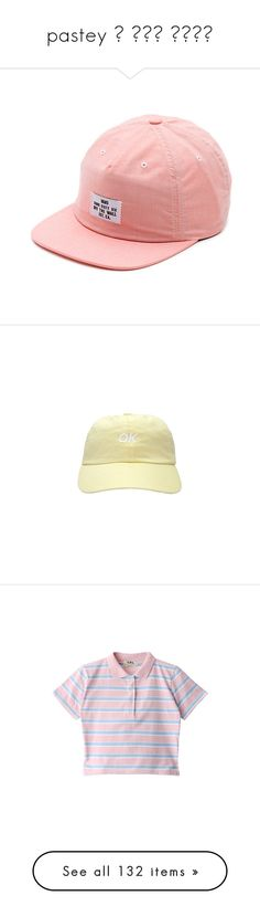 """""""pastey ꒰ ૢ●௰ ૢ●✩꒱"""" by iamdeadpoetry ❤ liked on Polyvore featuring pastel, men's fashion, men's accessories, men's hats, hats, accessories, zine red, mens snapback hats, cap hats and tops"""
