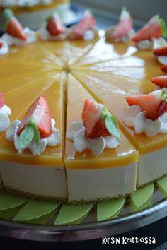 Kirsin keittiössä: Trooppinen juustokakku Sweet Cakes, Cheesecakes, Bon Appetit, Eat Cake, Panna Cotta, Goodies, Food And Drink, Cooking Recipes, Pudding