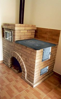 Outdoor Stove, Pizza Oven Outdoor, Outdoor Kitchen Design, Rustic Kitchen, Model House Plan, Home Design Floor Plans, Built In Grill, Backyard Bbq, Cuisines Design