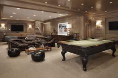 Luxury Traditional Basement Design