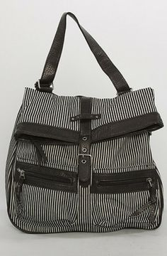 86373f0666 Vans White The Cha Convertible Backpack in Black and White Hickory Stripe Buy  Vans