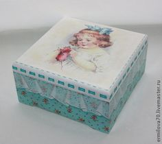 Discussion on LiveInternet - Russian Service Online diary Decoupage Glass, Decoupage Art, Pintura Country, Lace Painting, Painting On Wood, Decor Crafts, Diy Crafts, Lace Drawing, Altered Cigar Boxes