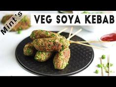 Quick Healthy Recipe - Veg Soya Kabab - Mint's Recipes