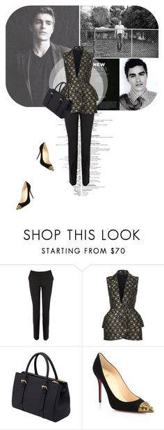 """Work Wear: David Franco ♡"" by etoile-388 ❤ liked on Polyvore featuring Warehouse, Alexander McQueen, Mulberry, Christian Louboutin, WorkWear, christianlouboutin, davefranco and WorkStyle"