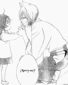 "Kamisama Hajimemashita  Tomoe-I'll bring home the bacon as they say.  ""You can't get me into a loveless marriage with yummy food? So do you really love me""?  Cutest thing ever"