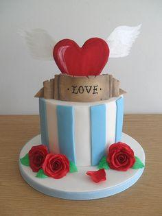 Bolos decorados para o Dia dos namorados - Bolos de Aniversário Decorados