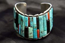 """Old Pawn Navajo Sterling Silver Natural Turquoise Bracelet by """"MTR"""" 925 - WOW in Jewelry & Watches, Ethnic, Regional & Tribal, Native American, Bracelets 