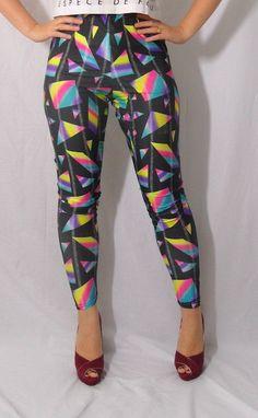 Vintage 80's Nylon Dance LEGGINGS