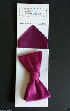 #collectible sale COLOR by Little Black tie dark red bow tie and pocket square set NEW withing our EBAY store at  http://stores.ebay.com/esquirestore