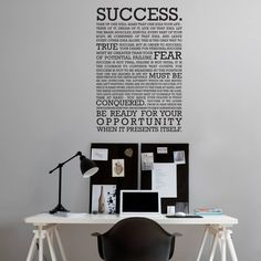 The definition of success Wall Sticker in Office Wall Stickers by Vinyl Impression