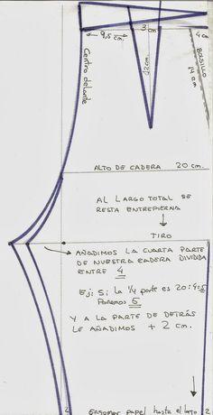 Patrón pantalón de señora Más Sewing Pants, Sewing Clothes, Diy Clothes, Doll Patterns, Clothing Patterns, Sewing Patterns, Pattern Cutting, Pattern Making, Aya Couture