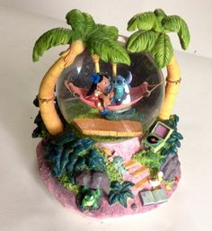 Disney Snow Globe Lilo And Stitch Musical Rare Disney Character Globe