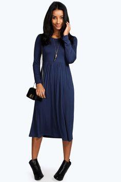 Mia Long Sleeve Midi Dress