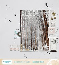 Monika Glod's Today is Beautiful Ideas for Scrapbook Circle. Great idea to cut apart the big photo.