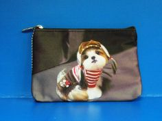 Dog Puppy Shih Tzu Pet Coin MP3 MP4 Bag Purse BAG008 NEW