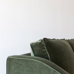 Ethel in Antique Green velvet Atelier fabric by Instyle.   #greenvelvet #greeninterior