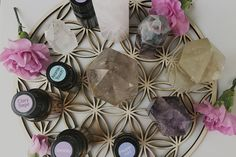 """Essential oils combined with crystal power are the perfect thing to help you to anchor and embody Divine energy in the present moment. They help to raise your vibration, steady your frequency and tune into your deep desire to bring clarity to the whatever shows up in your reality. All of the oils listed hereContinue Reading """"3 Essential Oil and Crystal Combinations to Amplify Your Manifesting Energy"""""""