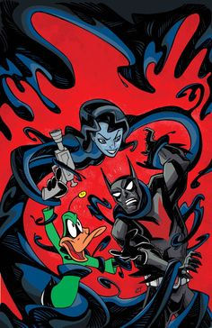 Batman Beyond #6 Looney Tunes variant cover by Craig Rousseau