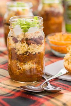 Chili and Cornbread in a Jar - Delish.com