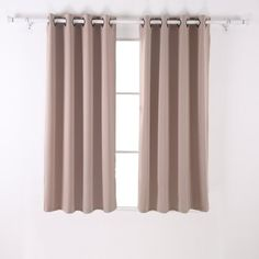 office curtains (grommet style in khaki, chocolate, or brown)