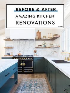 Incredible kitchen renovation before and afters.