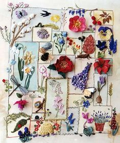 beautiful sampler by Jennifer Bee #embroidery: