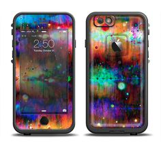 The Neon Paint Mixtured Surface Apple iPhone 6/6s Plus LifeProof Fre Case Skin Set from DesignSkinz