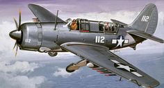 Navy Aircraft, Ww2 Aircraft, Military Aircraft, Illustration Avion, Aircraft Painting, Airplane Art, Ww2 Planes, Aircraft Pictures, Military Equipment