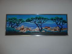 Schilderij voor Monica en Wolfgang. Acrylverf met gel.