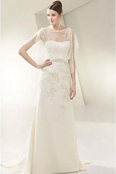 Elegant A-lijn Chiffon Bruidsjurken Online