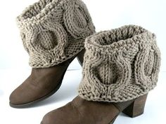 Knit boot covers - spats