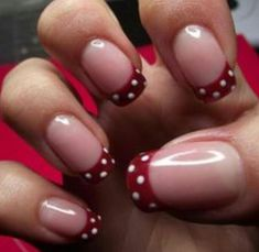 Easy pretty nails for Christmas, Valentines Day or just because