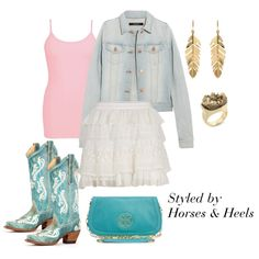 Turquoise: Color of the Month on Horses & Heels by horsesandheels, via Polyvore
