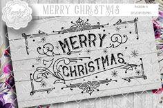 Vintage Christmas Cut Design BUNDLE By Sparkal Designs