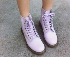 lavender doc martens <3 <3