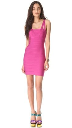 Herve Leger Zinnia Sleeveless Dress- prob needs this for my bday in Chi