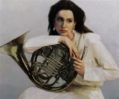 View French horn I by Chen Yifei on artnet. Browse upcoming and past auction lots by Chen Yifei. Indoor Senior Pictures, Senior Photos, Photography Projects, Art Photography, Cool Art Drawings, French Horn, Music Photo, Portrait Inspiration, Art Images