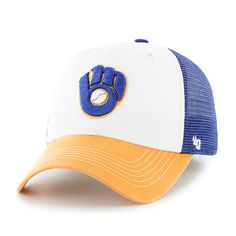 42056608a43 Milwaukee Brewers Mckinley Closer Royal 47 Brand Stretch Fit Hat
