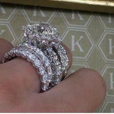 "2,202 Likes, 53 Comments - JEWELRY_GOALS (@jewelry_goals) on Instagram: ""#DiamondRingGoals! Perfect stack by @houseofkdor #iadorekdor @zenakdor """