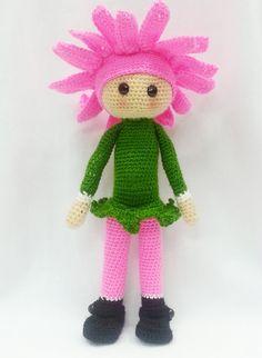 """Flor del ganchillo amigurumi muñeca """"Gerbera Gemma"""" / flor muñeca / ganchillo muñeca regalo para niños"""